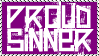 Proud Sinner Stamp by dA--bogeyman