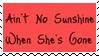 Ain't No Sunshine Stamp by dA--bogeyman