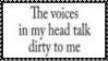 Voices In My Head Stamp by dA--bogeyman