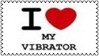I Love My Vibrator Stamp by dA--bogeyman
