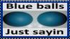 Blue Balls Stamp by dA--bogeyman