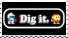Dig Dug Classic Arcade Stamp by dA--bogeyman