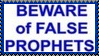 Beware of False Prophets Stamp by dA--bogeyman