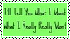 Tell Me What You Want Stamp