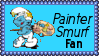 Painter Smurf Fan Stamp by dA--bogeyman