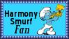 Harmony Smurf Fan Stamp by dA--bogeyman