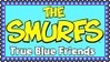 Smurfs True Blue Friends Stamp by dA--bogeyman
