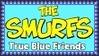 Smurfs True Blue Friends Stamp by dA--bogeyman