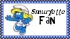 Smurfette Smurf Fan Stamp by dA--bogeyman