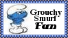 Grouchy Smurf Fan Stamp by dA--bogeyman