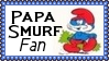 Papa Smurf Fan Stamp by dA--bogeyman