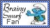 Brainy Smurf Fan Stamp by dA--bogeyman