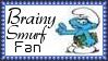 Brainy Smurf Fan Stamp by dA--bogeyman