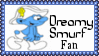 Dreamy Smurf Fan Stamp by dA--bogeyman