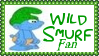 Wild Smurf Fan Stamp by dA--bogeyman
