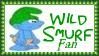 Wild Smurf Fan Stamp by dA--bogeyman