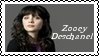 Zooey Deschanel Stamp by dA--bogeyman