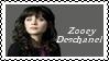 Zooey Deschanel Stamp by dA--bogeyman