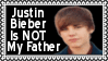 Justin Bieber Is Not My Father Stamp by dA--bogeyman