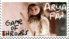 HBO Game of Thrones Arya Fan Stamp by dA--bogeyman
