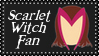Marvel Comics Scarlet Witch Fan Stamp by dA--bogeyman