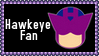 Marvel Comics Hawkeye Fan Stamp by dA--bogeyman