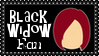 Marvel Comics Black Widow Fan Stamp by dA--bogeyman