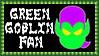 Marvel Comics Green Goblin Fan Stamp by dA--bogeyman