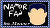 Marvel Comics Namor The Sub-Mariner Fan Stamp by dA--bogeyman