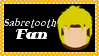 Marvel Comics Sabretooth Fan Stamp by dA--bogeyman