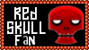 Marvel Comics Red Skull Fan Stamp by dA--bogeyman