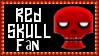 Marvel Comics Red Skull Fan Stamp by dA--bogeyman