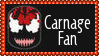 Marvel Comics Carnage Fan Stamp by dA--bogeyman