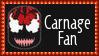 Marvel Comics Carnage Fan Stamp by dA--bogeyman