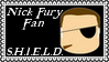 Marvel Comics Nick Fury - SHIELD Fan Stamp by dA--bogeyman