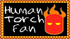 Marvel Comics Human Torch Fan Stamp by dA--bogeyman