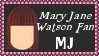 Marvel Comics Mary Jane Watson Fan Stamp by dA--bogeyman