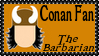Marvel Comics Conan The Barbarian Fan Stamp by dA--bogeyman