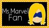 Marvel Comics Ms. Marvel Fan Stamp by dA--bogeyman