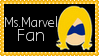 Marvel Comics Ms. Marvel Fan Stamp