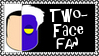 DC Comics Two-Face Fan Stamp by dA--bogeyman