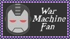 Marvel Comics War Machine Fan Stamp by dA--bogeyman