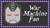 Marvel Comics War Machine Fan Stamp by dA--bogeyman