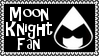 Marvel Comics Moon Knight Fan Stamp by dA--bogeyman