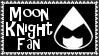 Marvel Comics Moon Knight Fan Stamp by dA--bogeyman