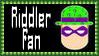 DC Comics Riddler Fan Stamp by dA--bogeyman