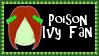 DC Comics Poison Ivy Fan Stamp by dA--bogeyman
