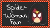 Marvel Comics Spider-Woman Fan Stamp by dA--bogeyman