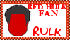 Marvel Comics Red Hulk - Rulk Fan Stamp by dA--bogeyman