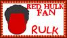 Marvel Comics Red Hulk - Rulk Fan Stamp by dA--bogeyman